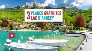 3 belles plages gratuites au bord du lac d'Annecy