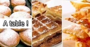 A table : place aux crêpes, beignets et gaufres !