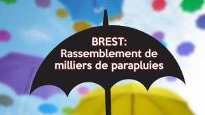 Les parapluies en folie à Brest