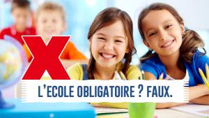 L'école n'est PAS obligatoire en France