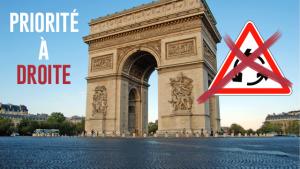 La priorité inversée des ronds-points parisiens