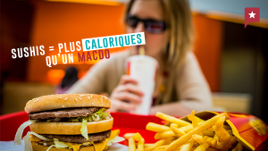 Les sushis plus caloriques qu'un repas au Mac-Do. Vrai ou faux ?