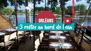 Trois restos au bord de l'eau à Orléans