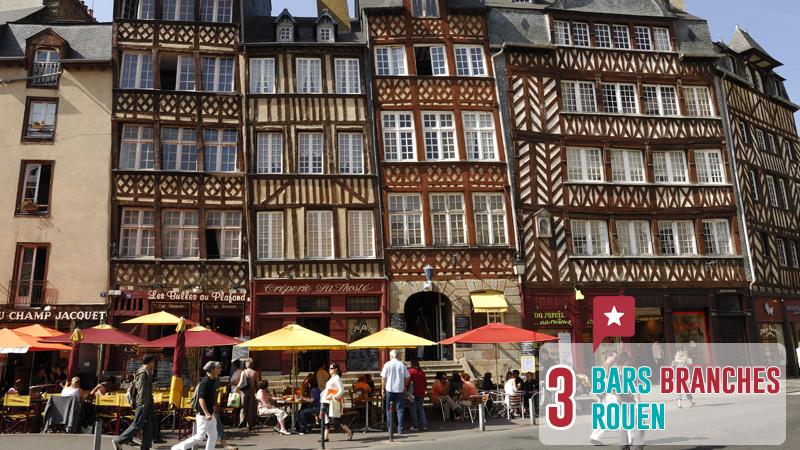 3 Bars Branchés à Rouen