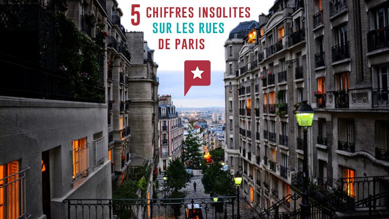 5 Chiffres Insolites Sur Les Rues Parisiennes