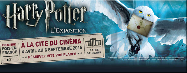 Expo Harry Potter Paris 2015 - 640 x 250