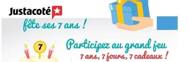 Justacoté Fête Ses 7 Ans, Participez Au Grand Jeu 7 Jours, 7 Cadeaux !