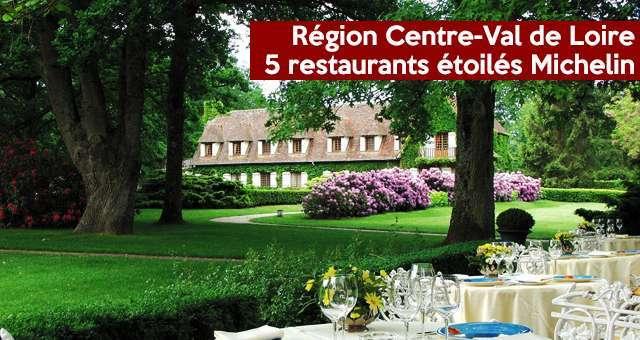Région Centre Val De Loire 5 Restaurants étoilés Au Guide