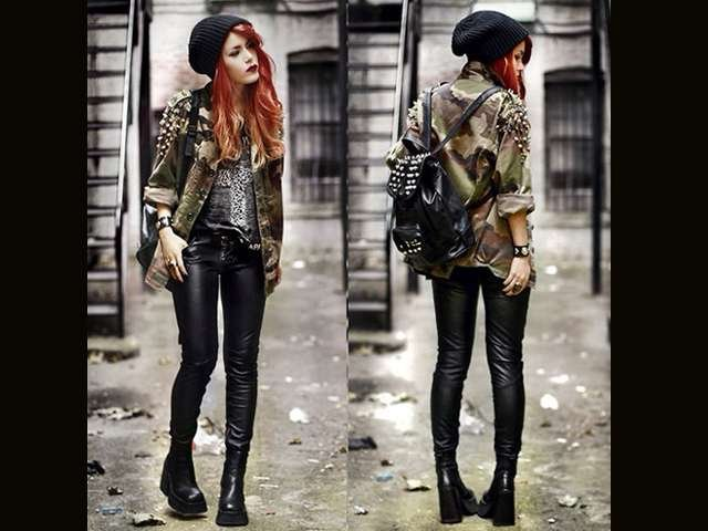 Tenue vestimentaire rock